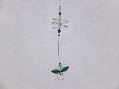 Swarovski Cascade Crystal Guardian Angel Birthstone Suncatcher MAY - EMERALD