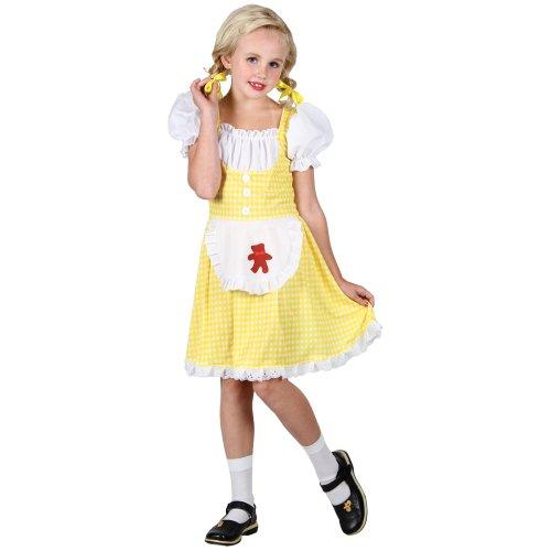 Märchenbuch Goldilocks Kostüm. Kleine 3-4 Jahre. Kleid mit Schürze und Haube.