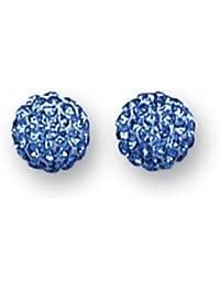 H. Gaventa Ltd SE5311/Sapphire - Pendientes de mujer de plata de ley con 112 cristales
