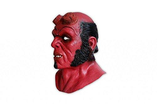 shoperama Hochwertige Latex-Maske Hellboy Kostüm-Zubehör Halloween Teufel (Teufel Kostüm Maske)