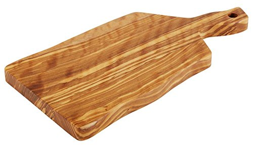 APS 00875 Servierbrett -OLIVE- 19 x 12,5cm, H: 1,5cm, Holz (Olivenbaum), Griff: 6cm