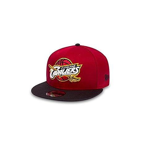 New Era Men's Nba Team 9Fifty Cleveland Cavaliers Offical Team Colour Baseball Cap, Red, Large (Manufacturer