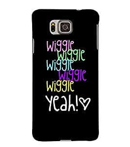 For Samsung Galaxy Alpha :: Samsung Galaxy Alpha S801 :: Samsung Galaxy Alpha G850F G850T G850M G850Fq G850Y G850A G850W G8508S :: Samsung Galaxy Alfa Wiggle, Wiggle, wiggle , Wiggle, Yeah, Black, Lovely pattern, Amazing Pattern, Printed Designer Back Case Cover By CHAPLOOS