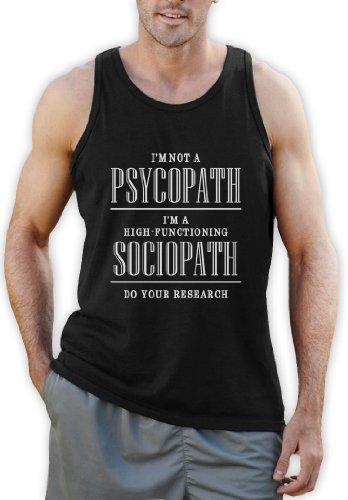 Ich bin nicht ein Psychopath Tank Top Schwarz
