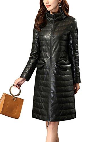 femmes-col-haut-cuir-de-mouton-veste-long-paragraphe-vestesblack-xxl