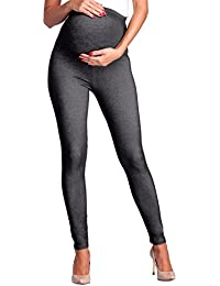Zeta Ville - Premamá leggings efecto mezclilla banda para barriga - mujer - 948c