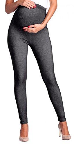 bb9becad7 Zeta Ville - Premamá leggings efecto mezclilla banda para barriga - mujer -  948c (Grafito