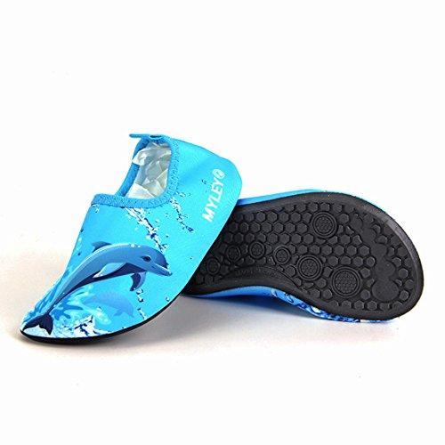 Gaorui Barfuß Schuhe Schwimmschuhe Badeschuhe Wasserschuhe Surfschuhe Rutschfeste Schuhe für Kinder Blau