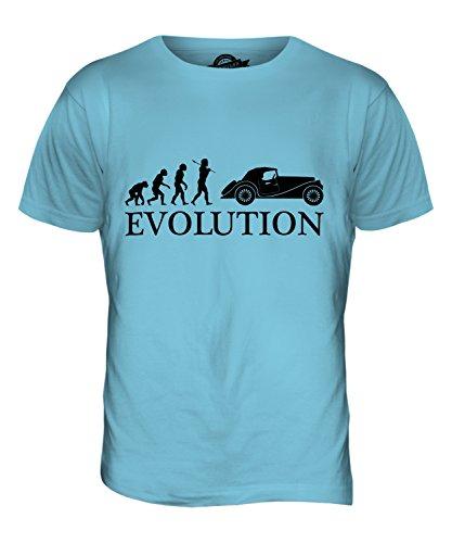 CandyMix Oldtimer Evolution Des Menschen Herren T Shirt Himmelblau