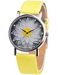 2d2d3435b922 SSITG Reloj Mujer Reloj Estudiantes Reloj Reloj DE Pulsera Cuarzo Reloj  analógico Reloj patrón de Loto bisutería…