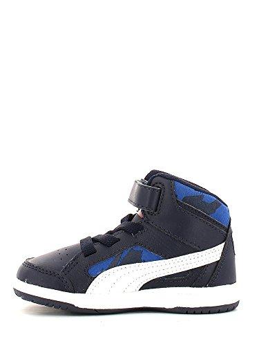 Puma Rebound V2 Hi Camo V Kids, Baskets mode mixte bébé Bleu