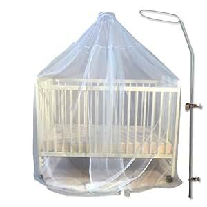 voile moustiquaire bleu fl che de lit ronde. Black Bedroom Furniture Sets. Home Design Ideas