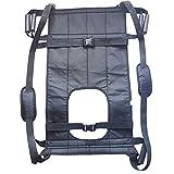 Power-Patientenheber Ganzkörper-Schlinge Medizinische Hebegeräte Transfergürtel Stuhl zu Kommode und Bad, ältere Menschen (Schwarz)