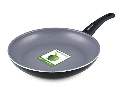 GreenPan Vita Verde - Sartén (aluminio, cerámica antiadherente, 24 cm), color negro