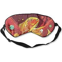Eye Mask Eyeshade Golden Fish Drawing Sleeping Mask Blindfold Eyepatch Adjustable Head Strap preisvergleich bei billige-tabletten.eu
