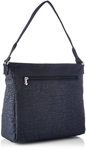Kipling Damen Tasmo Schultertasche, 31x29x14 cm Schwarz (Basket Shimmer)