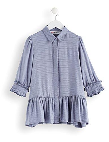 RED WAGON Mädchen Hemdkleid mit Schößchen, Blau (Blue), 146 (Herstellergröße: 11 Jahre)