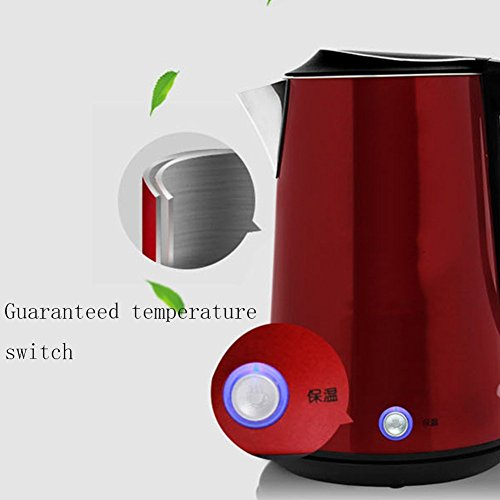 BCQ Lectric Kettle 304Stainless Steel Automatic Power off 1.5L 1800W Red Electric Kettles