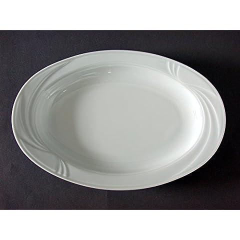 H&H Arcadia Raviera Porcellana, Ovale, Bianco, 24