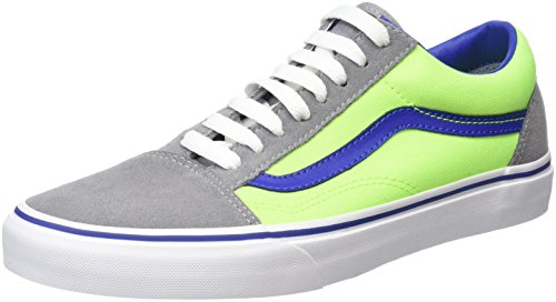 Vans Unisex Adults' Old Skool Low-Top Sneakers, Multicolor (Brite Frost Gray/Neon Green), 6.5 UK