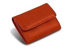 Lucrin - Kleiner Geldbeutel - Orange - Leder genarbt