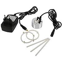Akozon Mist Maker 24V Ultrasonic Mist Fogger Fuente de Agua Estanque Atomizador Humidificador de Aire con Adaptador(EU Plug)