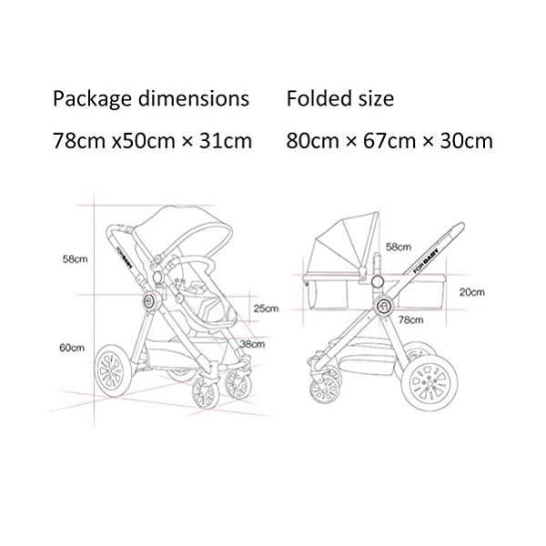 ZXYSR Modular Stroller, Baby Stroller, Converts To Double Stroller, 3 Modes, Durable Construction, Extra-Large Storage Basket, Compact Folding Design, 55-Lb Capacity, Gray ZXYSR ★ MULTI POSITION RECLINING SEAT- Keep your little one comfortable and safe at all times with the 3 position recline and easily adjust for baby's comfort; large storage basket and seatback pockets provide space for baby's extras; seat holds children up to 40 pounds each and includes a 5 point stroller harness. ★FOR TRAVEL AND EVERYDAY TRAVEL STROLLER- Whether you're traveling or just on the go running everyday errands, having a lightweight, compact stroller is a must! With this one easy to use stroller, you'll have both an everyday and travel stroller option. ★LIGHTWEIGHT - A lightweight stroller makes any outing a little easier! Convenience Stroller has a durable aluminum frame that Leather fabric and has a large seat area, plus anti-shock front wheels and lockable rear wheels. 8