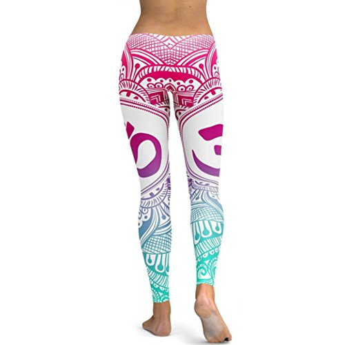 Lavendel Satin-handschuhe (ITISME Jeanshosen Frauen Gedruckt Yoga Fitness Leggings Lauf Gym Stretch Sport Hosen Hosen)
