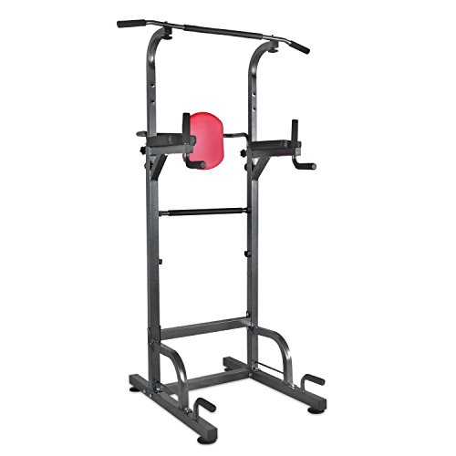 1life Power Tower DIP station chin up workout Exercise Machine for home Gym Strength training fitness Equipment