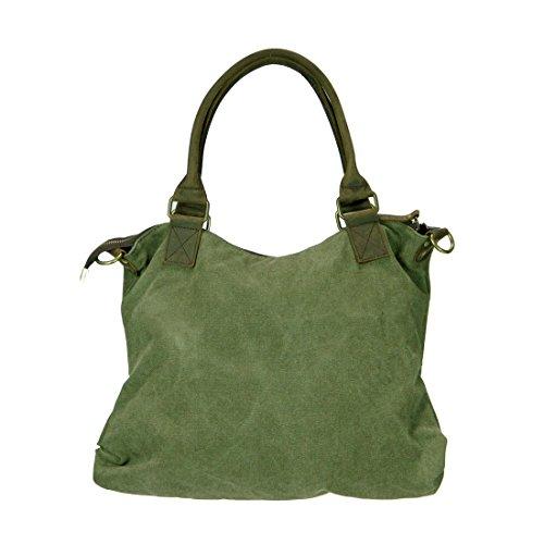 Ketty Long  BELLA M, Sac bandoulière pour femme Gris gris Gris khaki grün Gris - khaki grün
