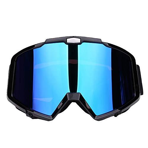 FHGH Motorrad Schutzbrille Motocrossbrille Motorradbrille PC-Linse PU-Rahmen Weiches Schwammpolster Plus Loser GüRtel Motorradbrille Offroad-Brille Winddichte Brille Skibrille (Kinder-ski-schutzbrillen, Klare Linse)
