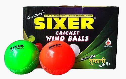 Sixer Cricket Wind Ball Set Of 6 Pcs