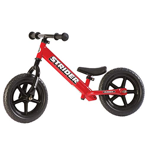Everybody loves Strider. The Strider Balance Bike 12 Classic - 18 Months To 3 Years is a popular choice on the market for the good reasons; no-brainer assembly, seat posts flexibility, lightweight, and low stand-over height for the perfect balance. The design is amazing too, thanks to narrow handlebars, child-size grips, and lightweight plastic wheels that never go flat. An adjustable foot-rest is an impressive add-on too. The lack of hand-brake and the use of foam wheels may not even sound a big deal for a toddlers balance bike. In our opinion, the Strider Balance Bike 12 Classic is the best balance bike for toddlers.
