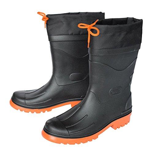 MADSea Herren Gummistiefel Nils, Farbe:schwarz/orange;Größe:43