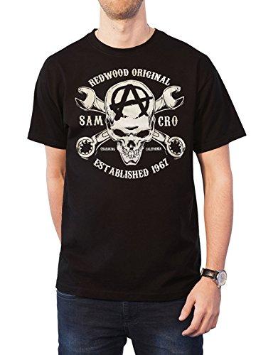 Sons of Anarchy T Shirt Redwood Original Crossbones Logo offiziell Herren Nue