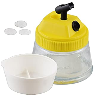Agora-Tec airbrush cleaning pot AT-CP-01, three in one, cleaning and holding airbrushes guns and mix of colors