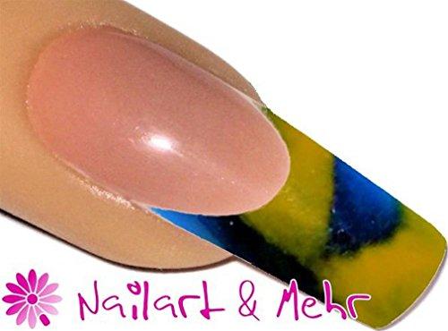 2-färbiges Acryl-Pulver 5g, 2Tones-EnvyU: #2T-36 BLAU/GELB - für die schnelle aber dennoch effektvolle Nailart - Farbige Acryl Nagel Pulver