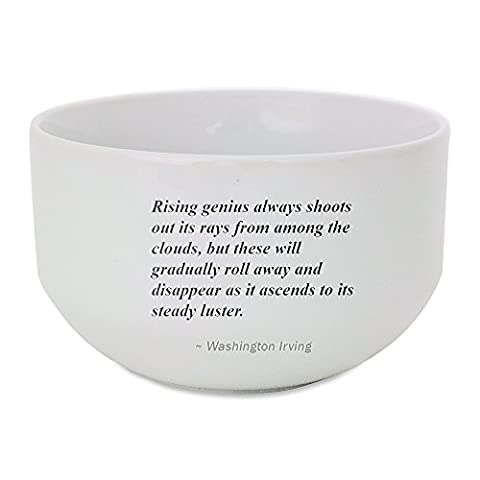 Ceramic bowl with Rising genius always shoots out its rays from among the clouds, but these will gradually roll away and disappear as it ascends to its steady luster.