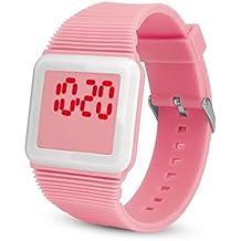 QinMM Deporte Muñeca Relojes Digitales LED Tecnología para Niños Niñas ...