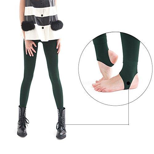 La Dearchuu Damen Leggings Medium Grün