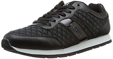 Jim Rickey Ballistic Nylon Leather, Baskets mode homme - Noir (Black Quilted), 40 EU