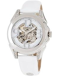 Carlo Monti Armbanduhr für Damen mit Analog Anzeige, Automatik-Uhr und Lederarmband - Wasserdichte Damenuhr mit zeitlosem, schickem Design - klassische, elegante Uhr für Frauen - CM801-186 Modica