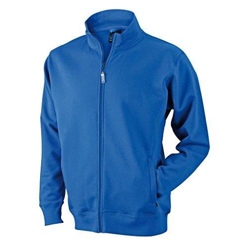 JAMES & NICHOLSON Sweat-Jacke aus formbeständiger Sweat-Qualität Royal