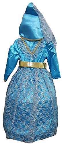 PICCOLI MONELLI Disfraz de Hada niña de 6 años Vestido de Carnaval Hada Medidas celestiales de Hombro a Piso 90 cm