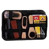Homyl 8pcs Shoe Shine Care Kit Shoe Polish Brush Set For Daily Leather