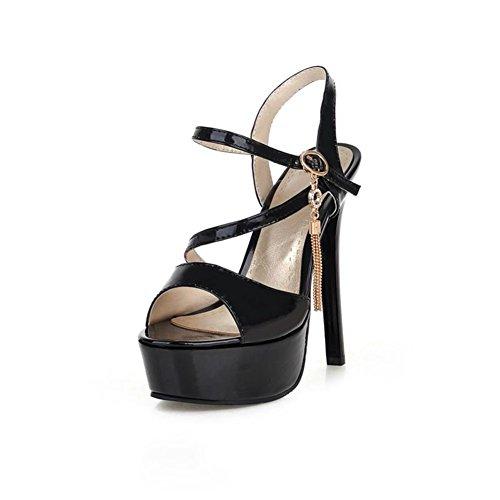 Sexy piattaforma a spillo/ peep-toe strap sandalo donna A