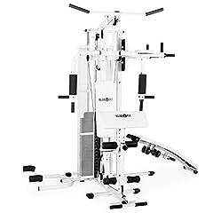 Idea Regalo - Klarfit Ultimate Gym 5000 • Palestra in casa • Power station • Training Station • Sistema di peso multifunzione • per più di 50 esercizi • allenamento per tutto il corpo • incl. pesi • nero o bianco
