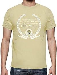 latostadora - Camiseta Amor Eterno para Hombre 7a4e8c5cc18