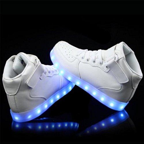 [Presente:piccolo asciugamano]JUNGLEST® 11 colori led luminoso-Scarpe da ginnastica Unisex, in stile Casual, per scarpe-Coppia di luci led, c14