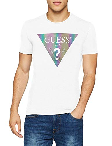 Guess LOUPA T-Shirts & Poloshirts Herren Weiss - XXL - T-Shirts